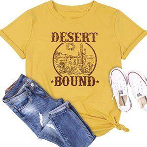 Desert Bound Country Western Yellow Graphic Tee